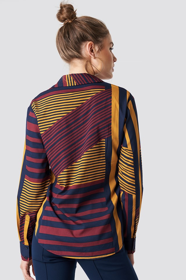 Criss-Cross Stripes Shirt Stripe Print