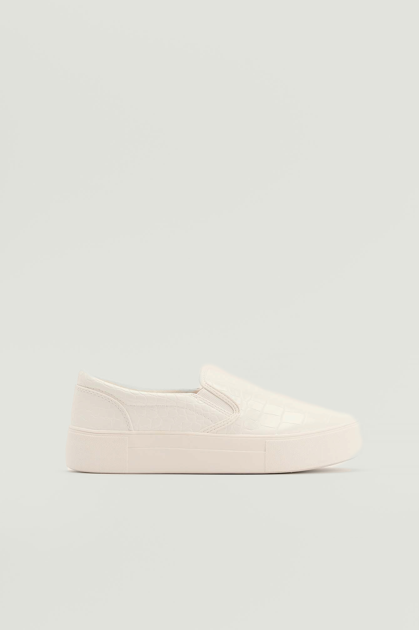 NA-KD Shoes Croc Slip In Trainers - White