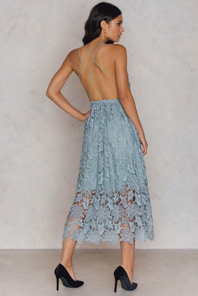 Sukienka z ażurową koronką Duck Green