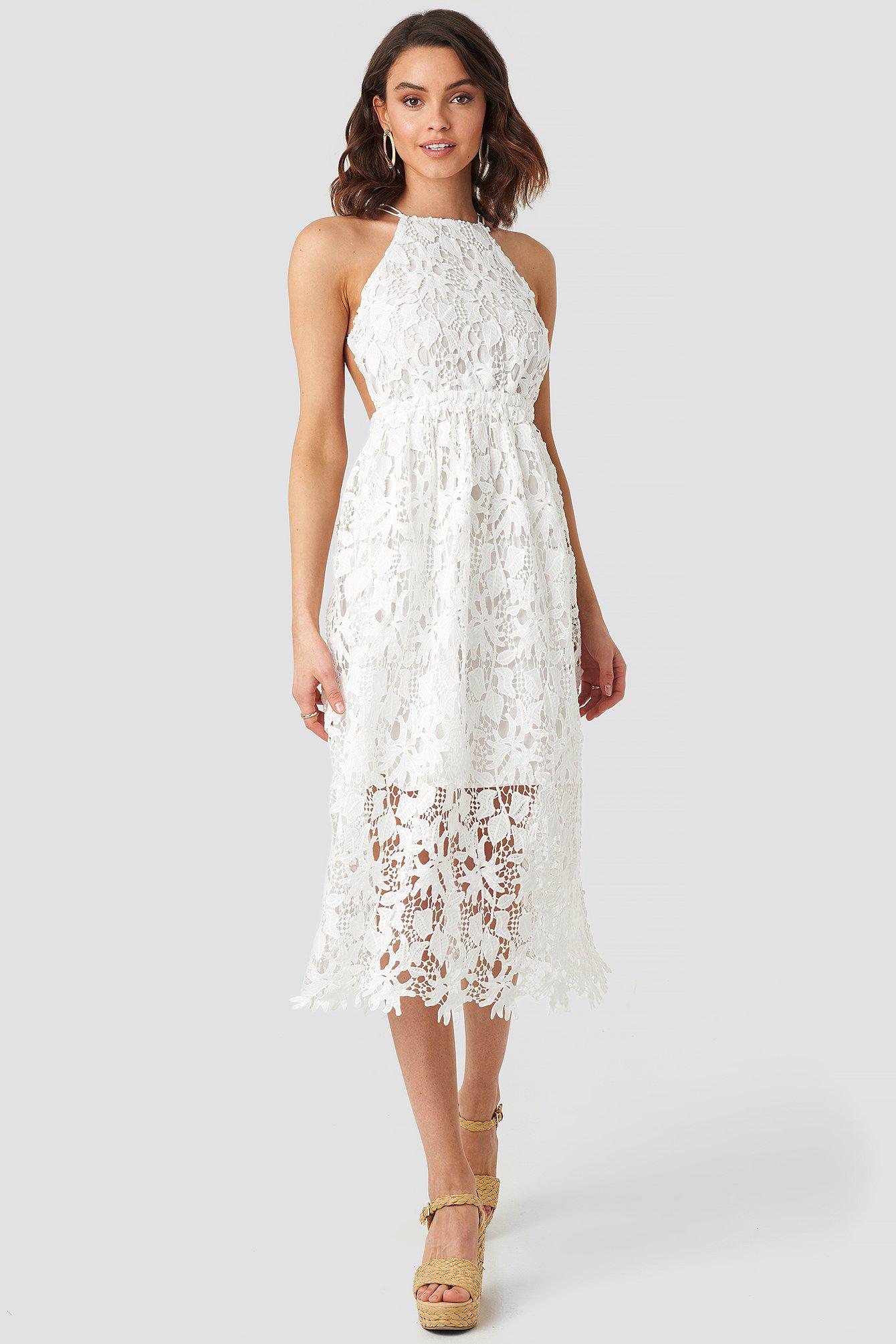 crochet strap back dress