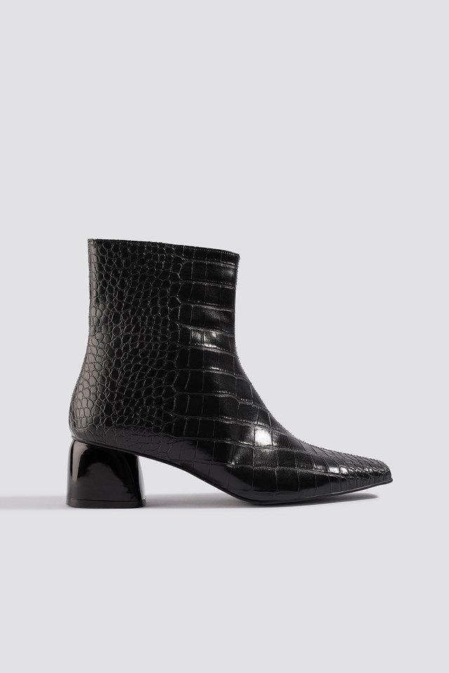 Croco Basic Boots Black