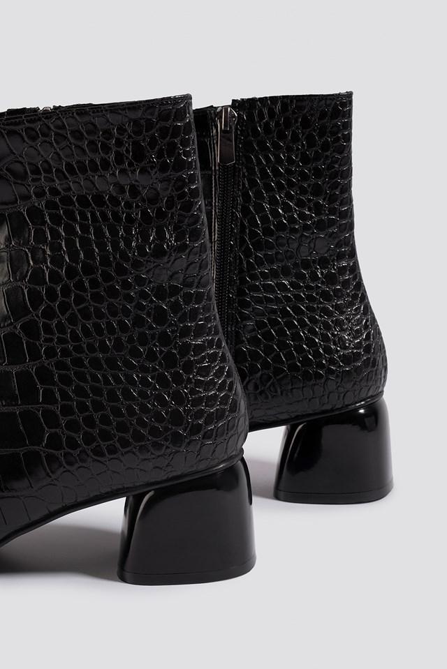 Croco Basic Boots Black