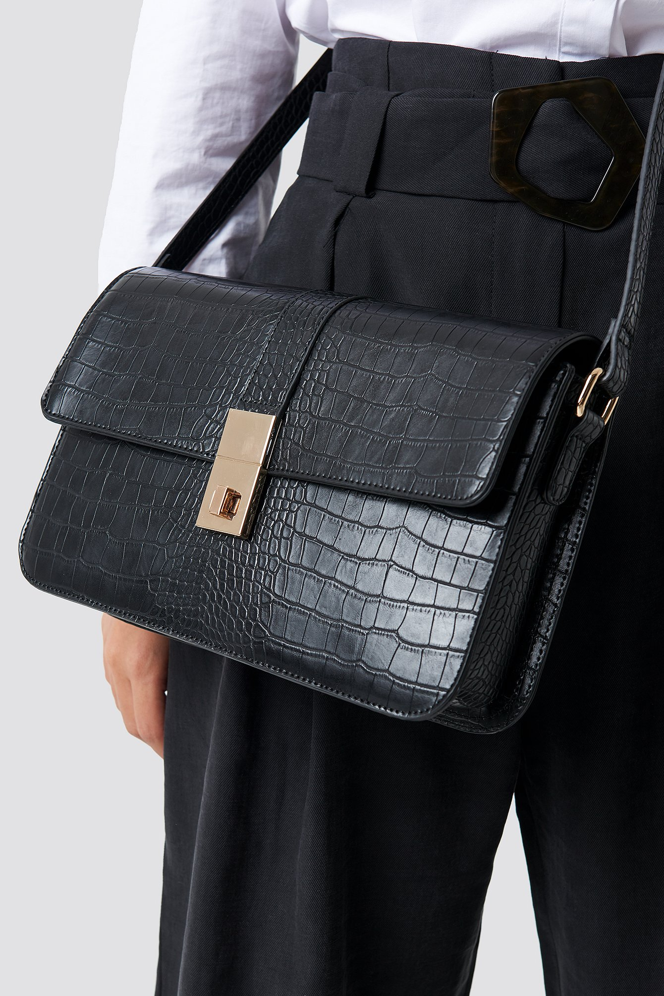 Croco Briefcase Bag NA-KD.COM
