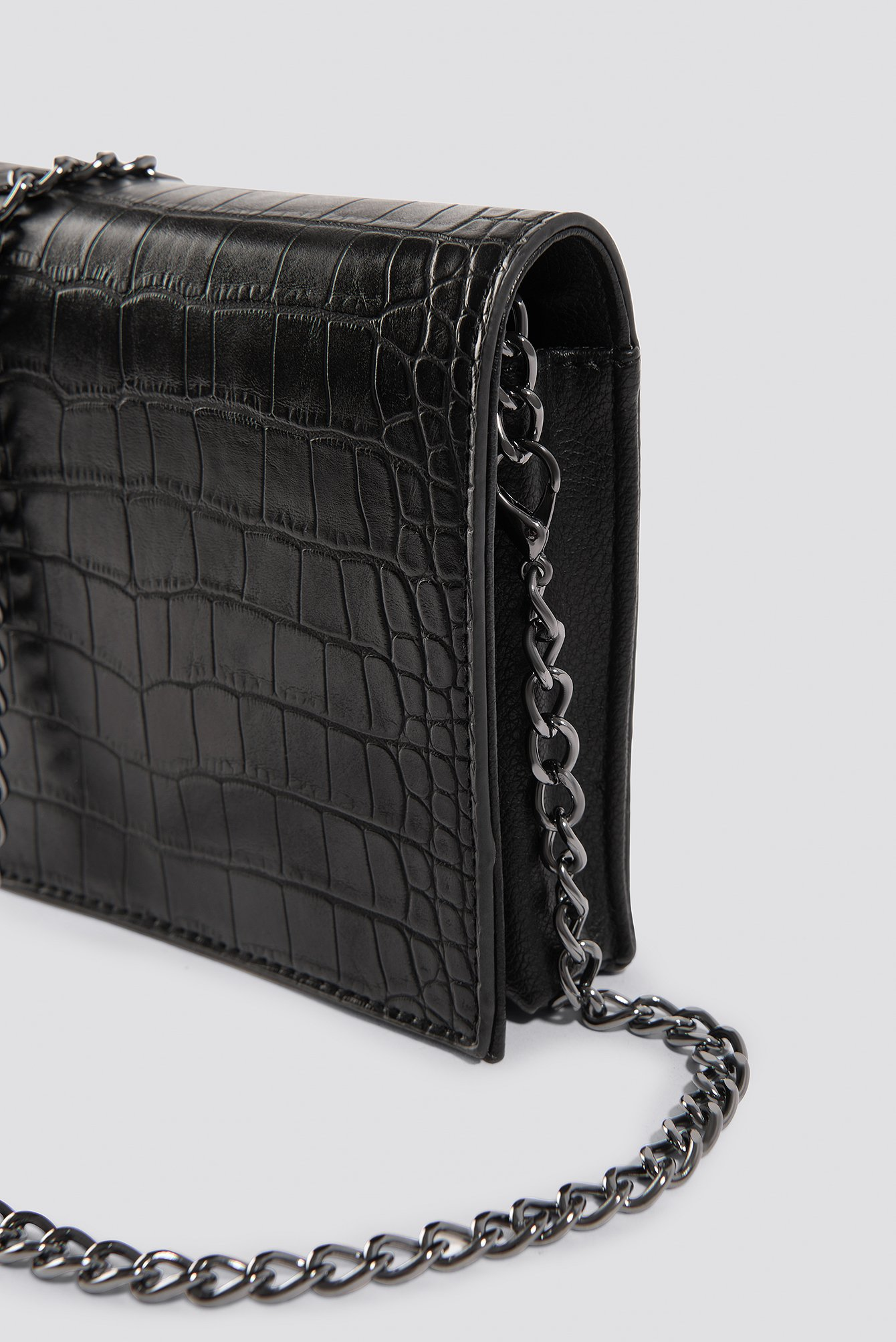 Croco Mini Messenger Bag NA-KD.COM