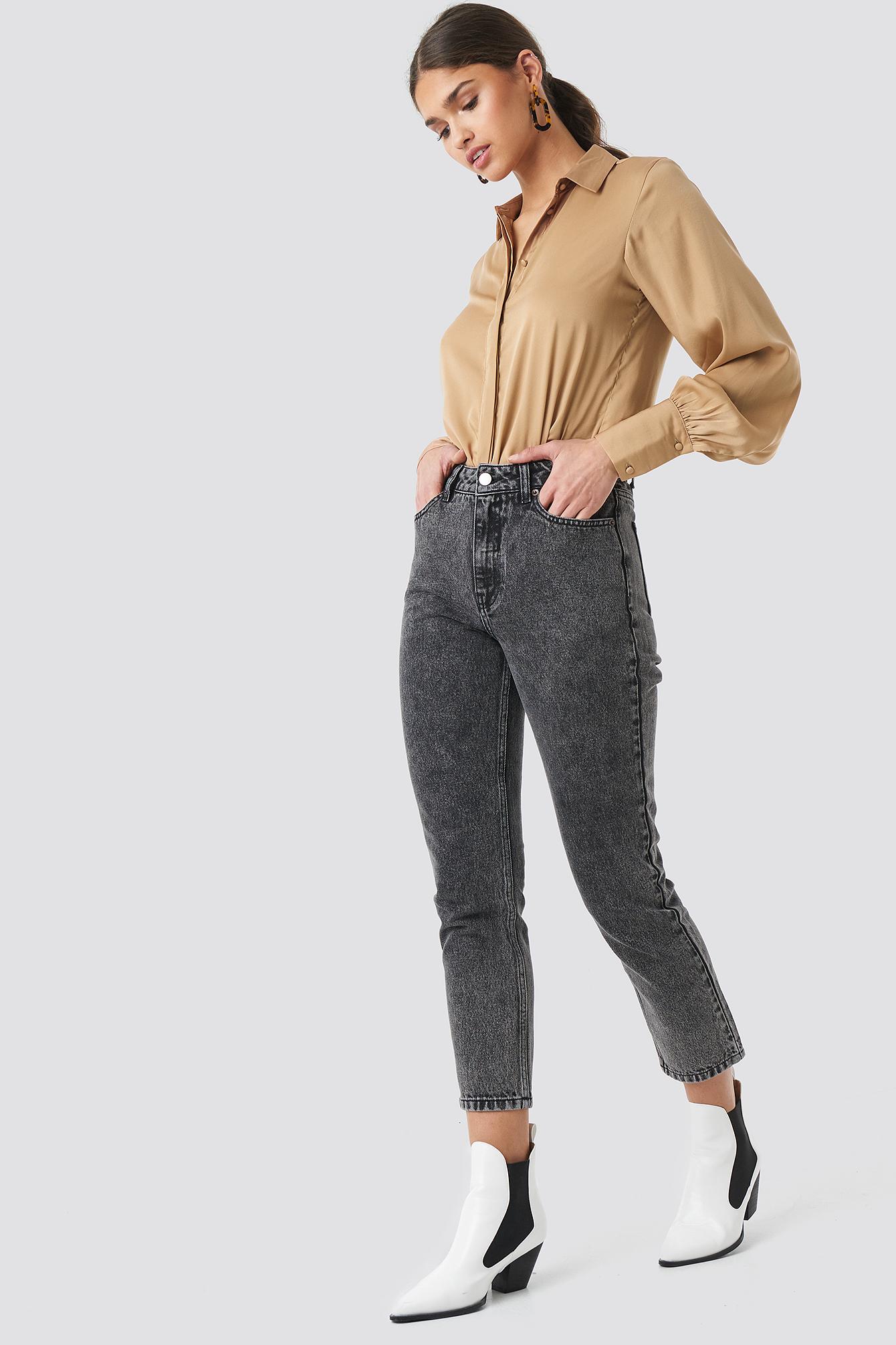 Cropped 5 Pocket Jeans NA-KD.COM