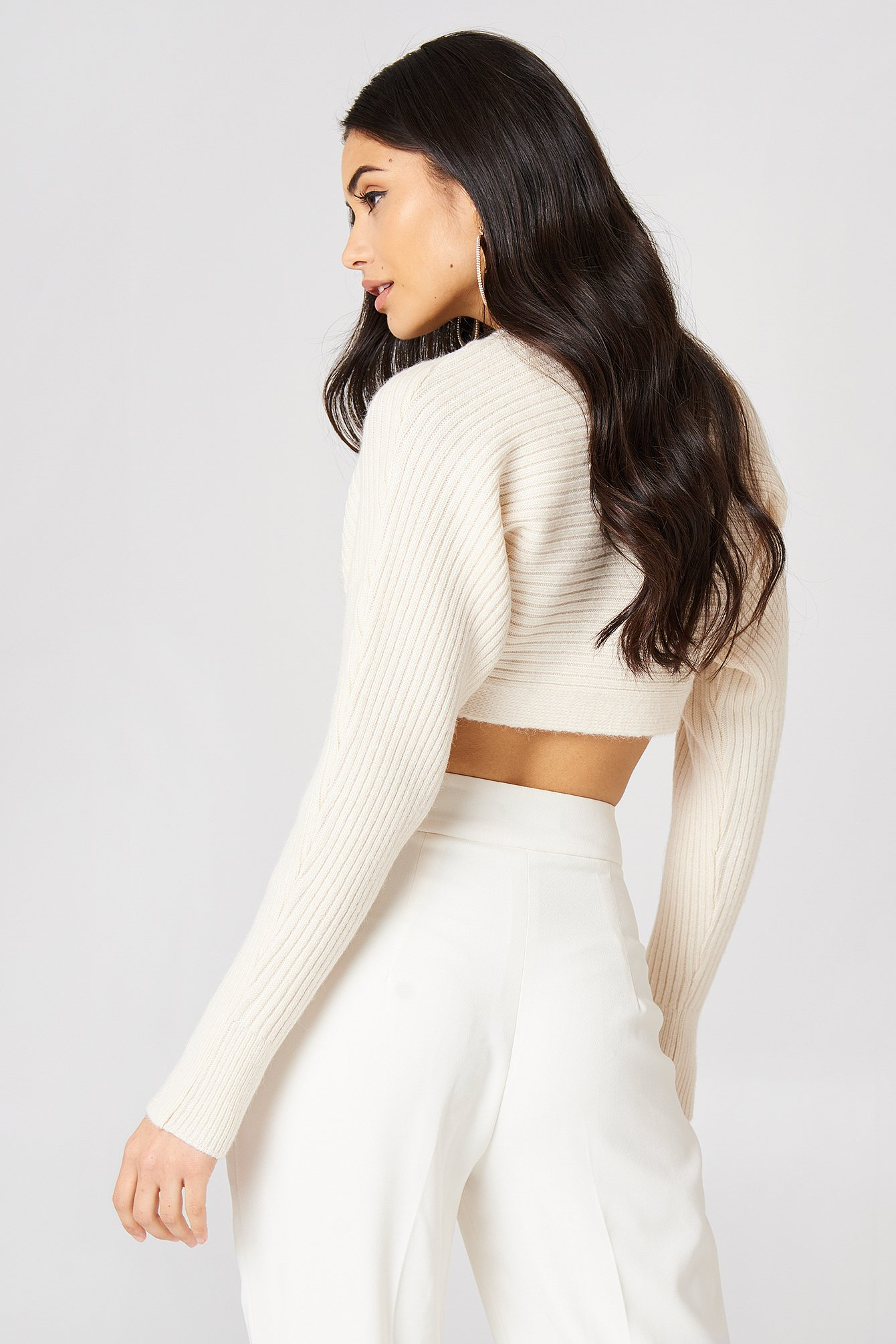 Cropped Batwing Sweater NA-KD.COM