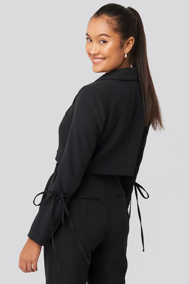 Cropped Blazer Black