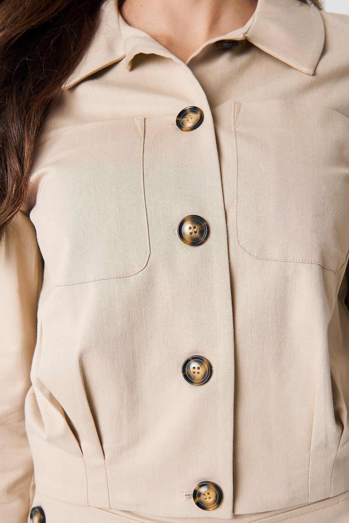 Cropped Cotton Blend Jacket NA-KD.COM