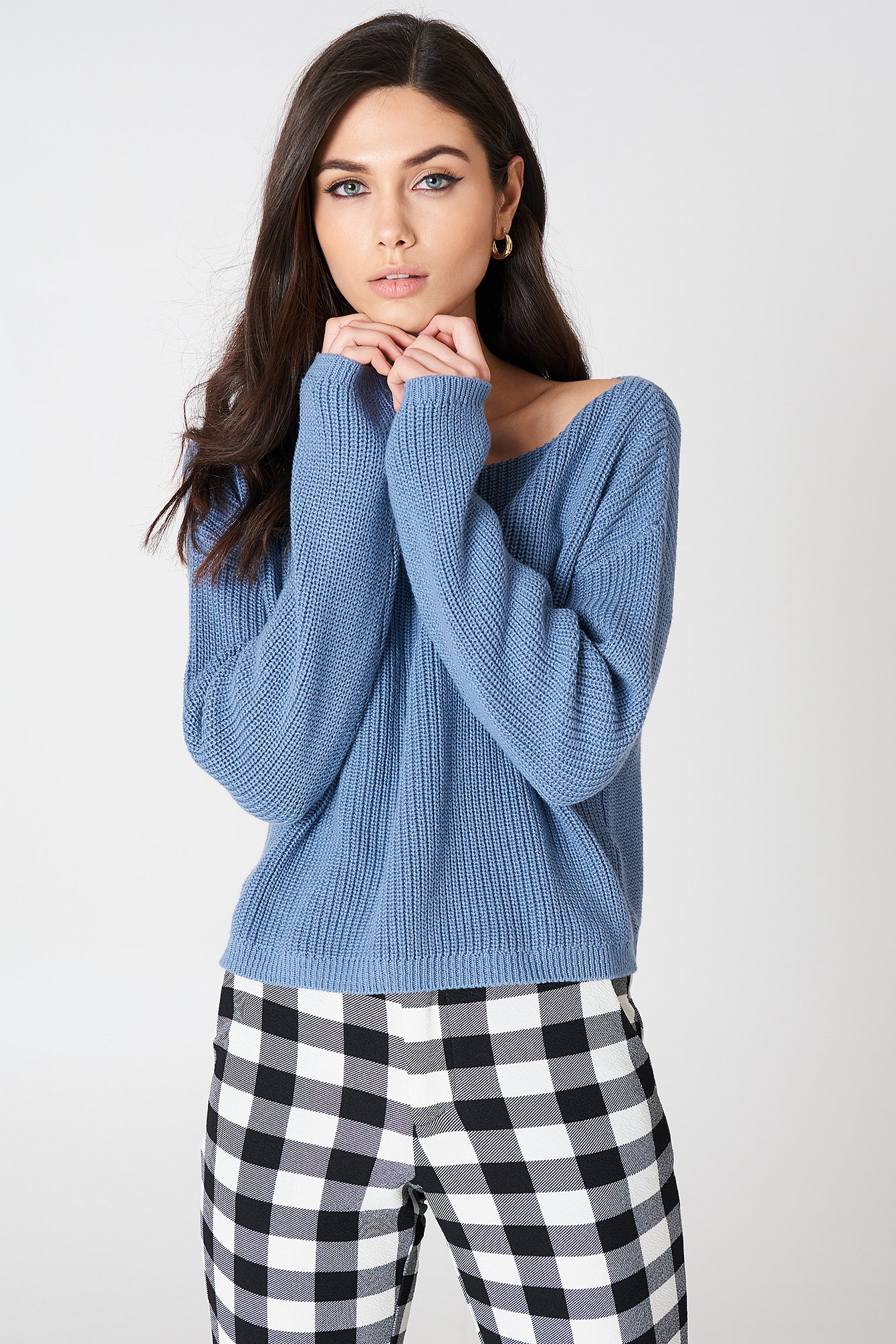 Cropped Knitted Sweater NA-KD.COM