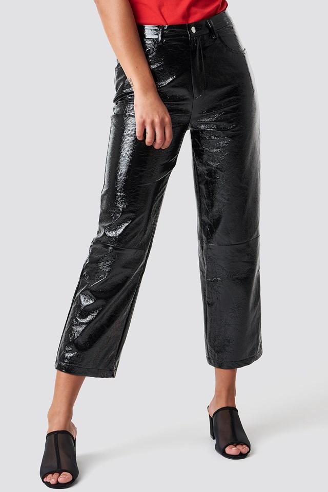 Lakierowane spodnie Black