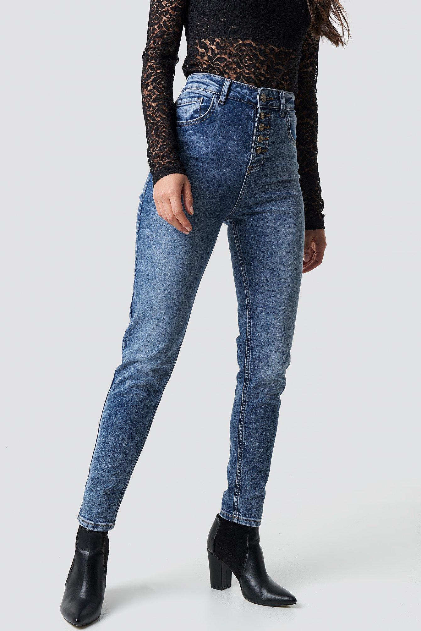 Cropped Skinny Jeans NA-KD.COM