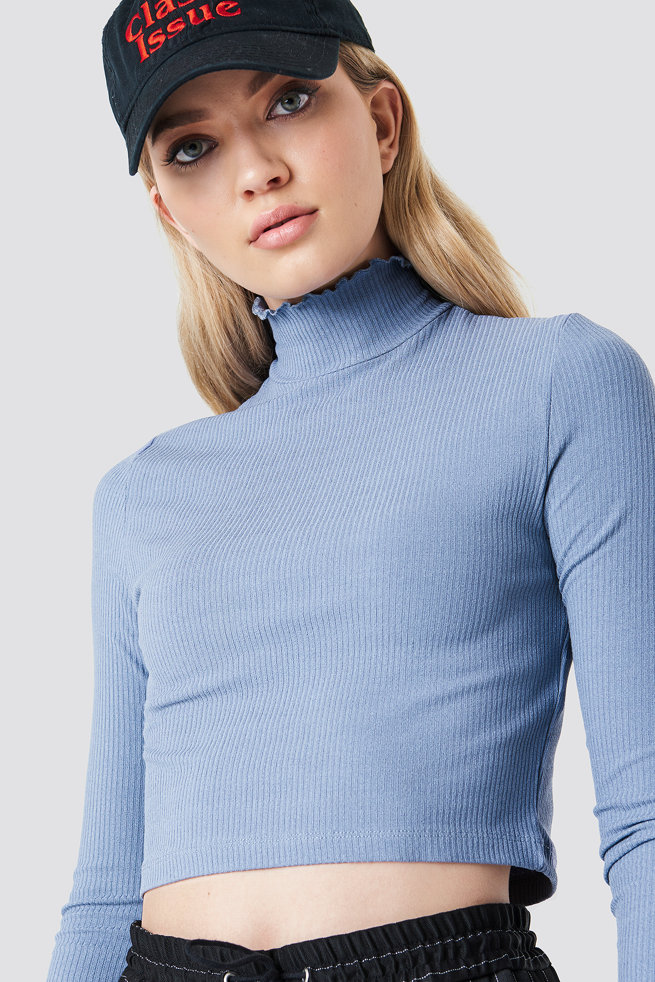 Cropped Smock High Neck Top NA-KD.COM