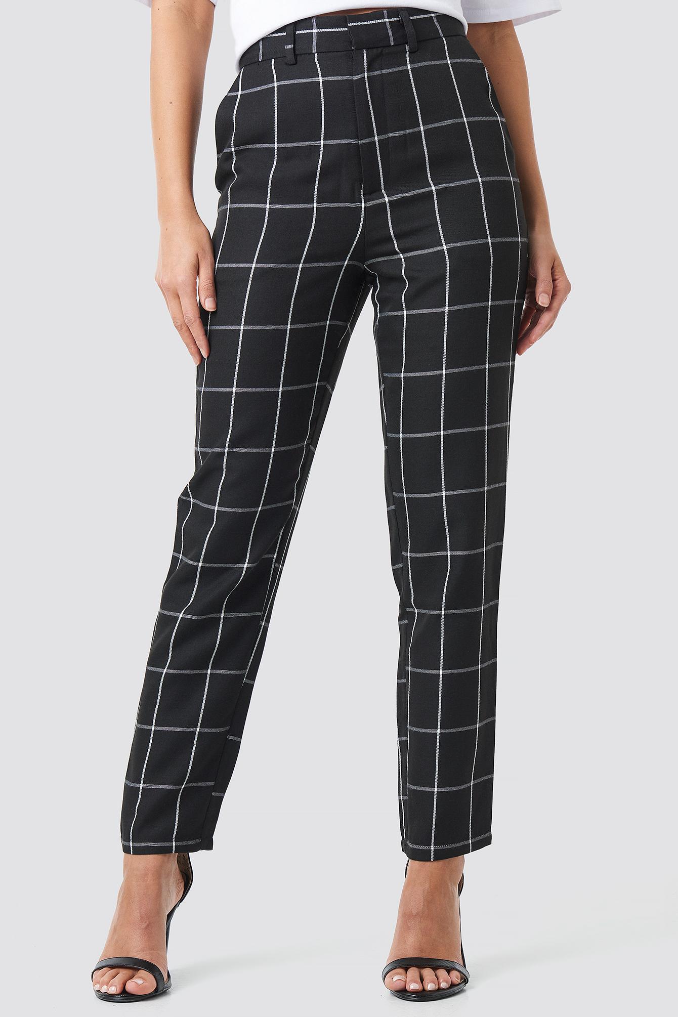 Cropped Straight Leg Suit Pants NA-KD.COM