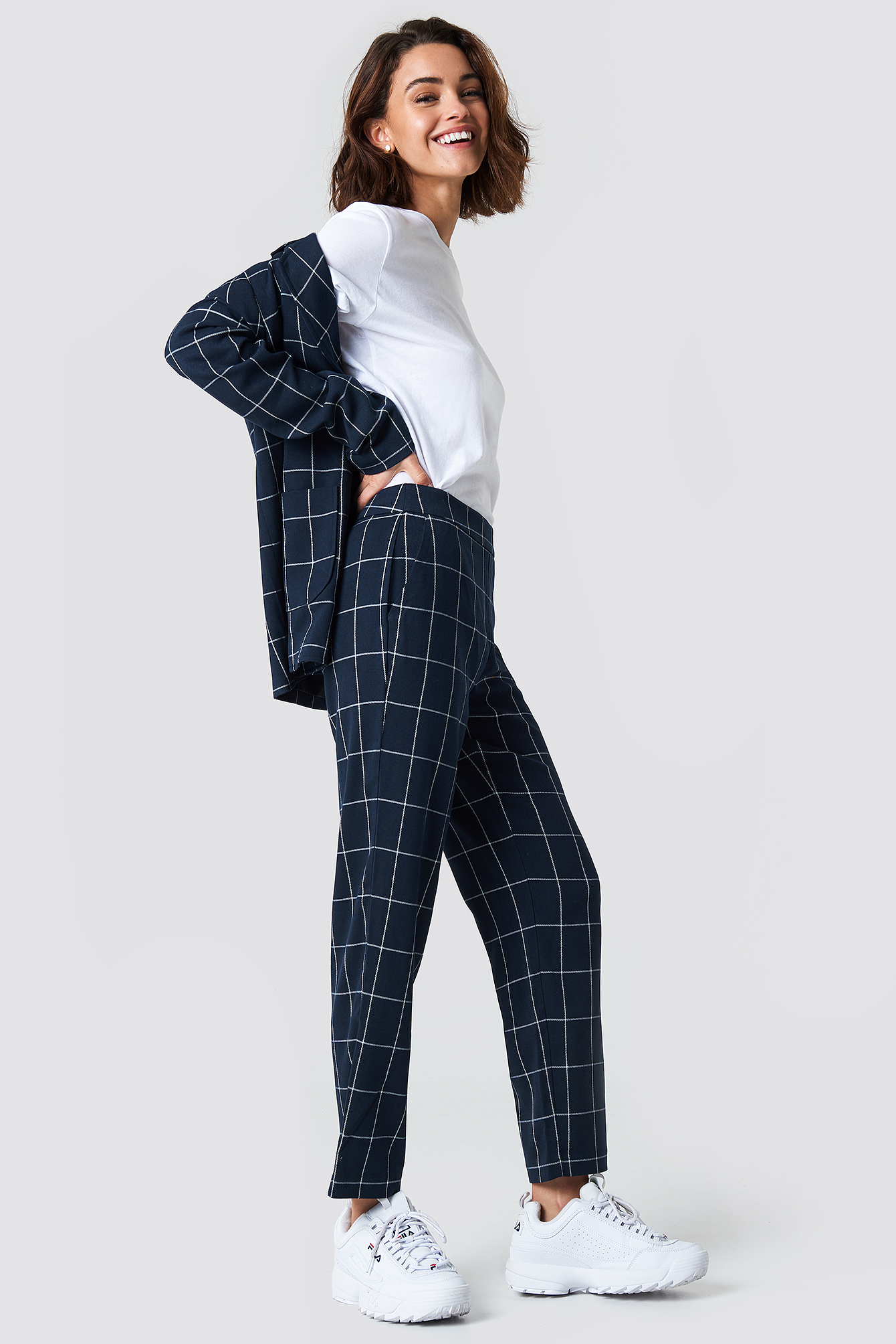 Cropped Straight Suit Pants NA-KD.COM