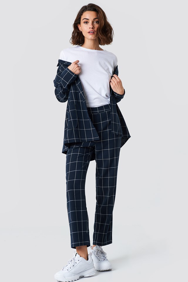 Cropped Straight Suit Pants NA-KD Classic