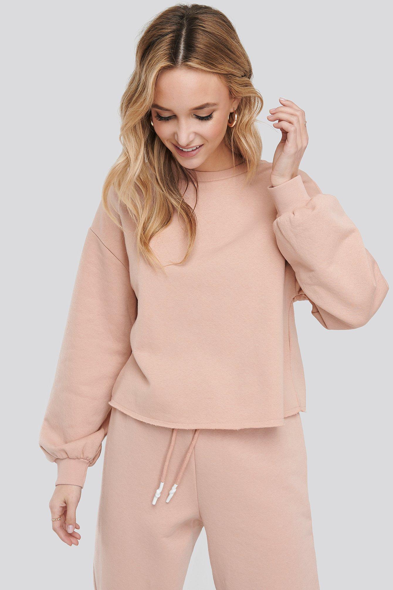 na-kd -  Cropped Sweatshirt - Pink