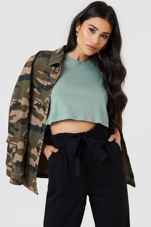 Cropped Tank Top Duck Green