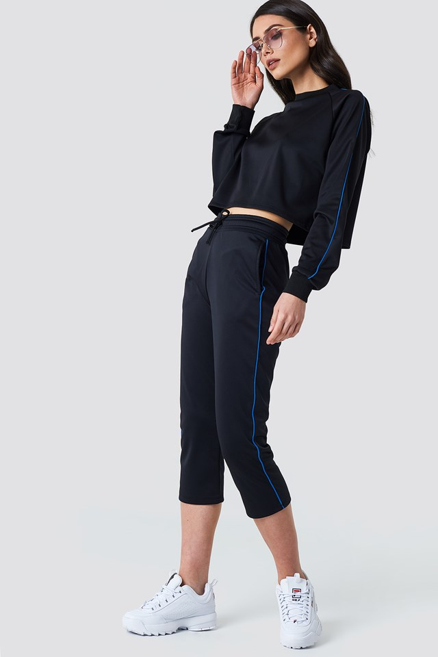 Cropped Track Pants Blue