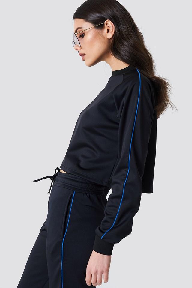 Cropped Track Sweatshirt Blue