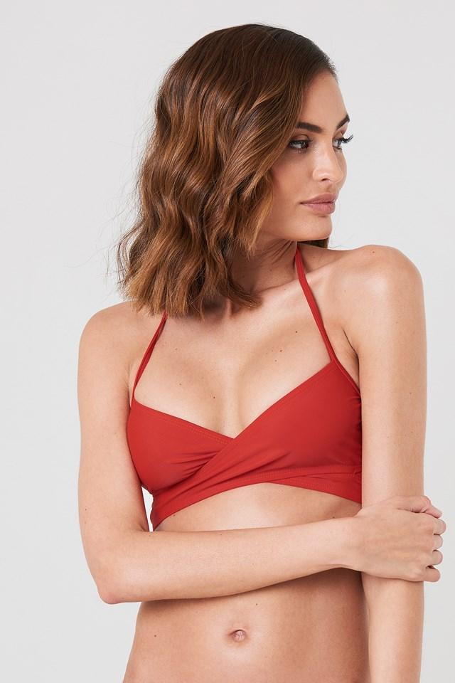 Góra od bikini cross front Red