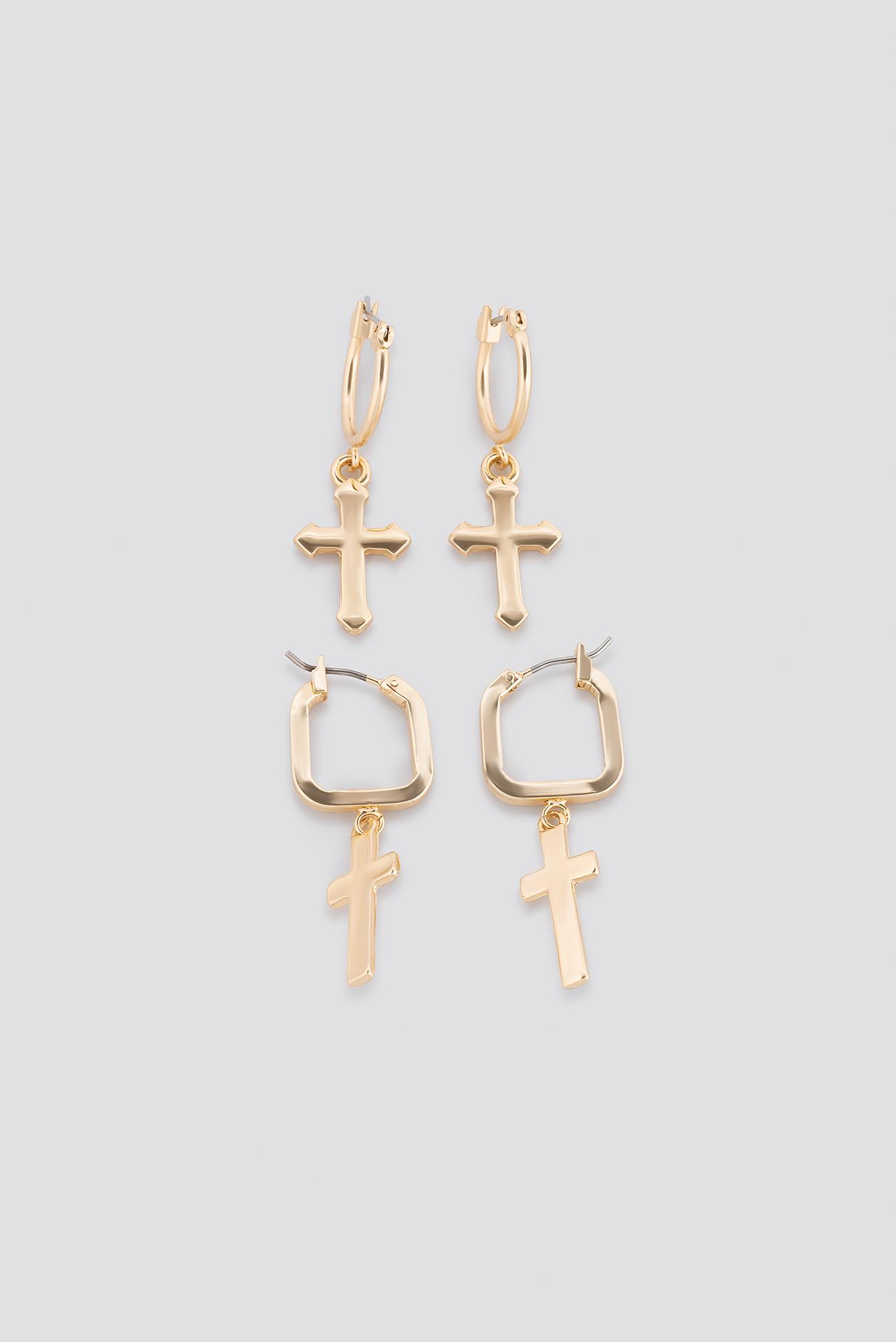 Cross Pendants Earring Set NA-KD.COM