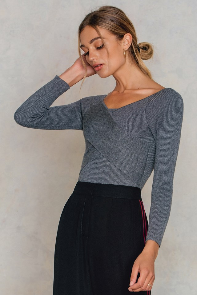 Cross Short Sweater NA-KD.COM