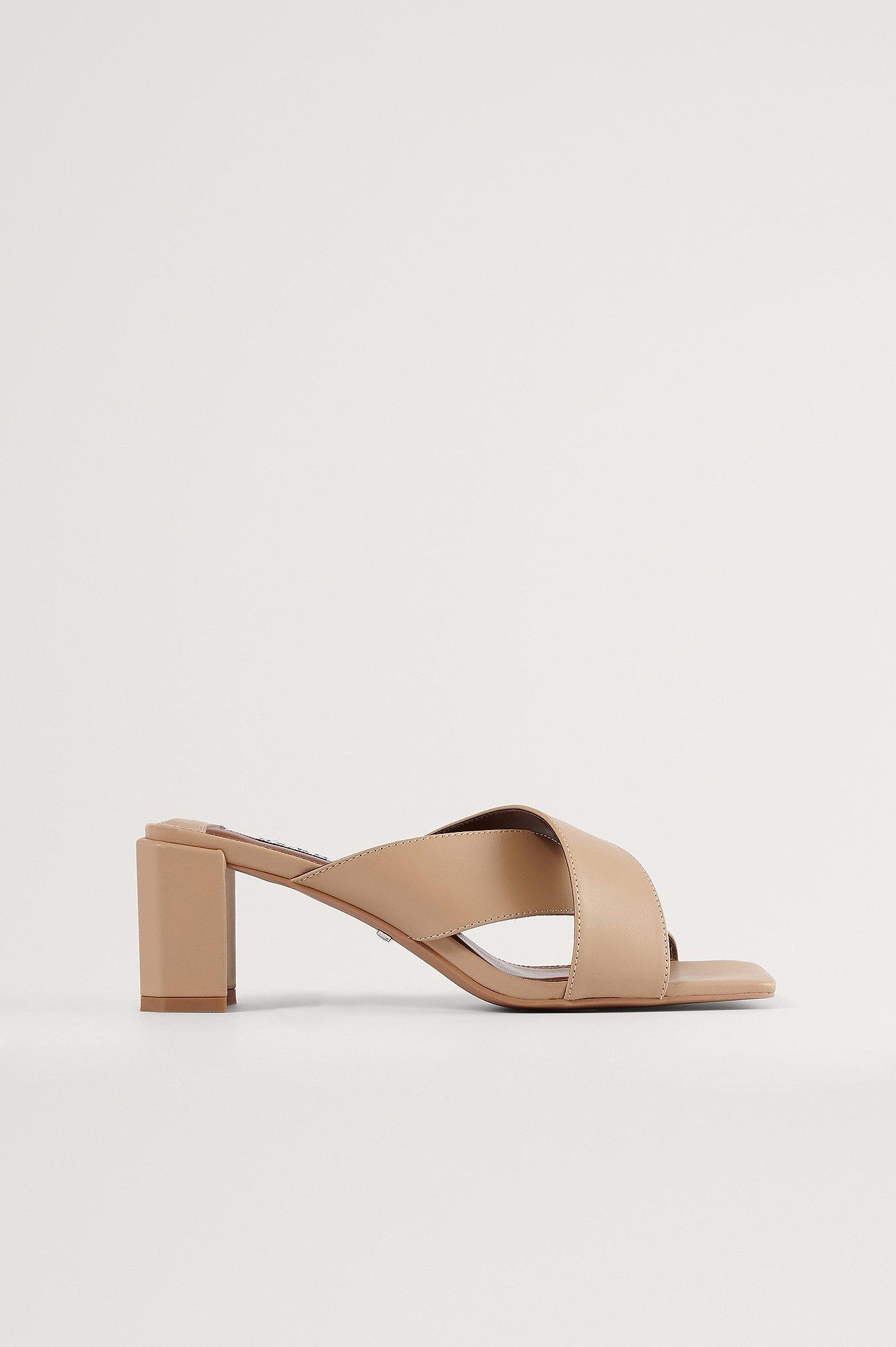 NA-KD Shoes Mules - Beige