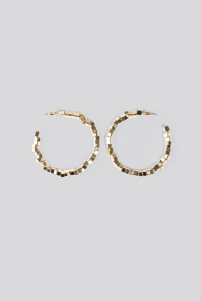 Cube Beaded Hoop Earrings NA-KD Accessories