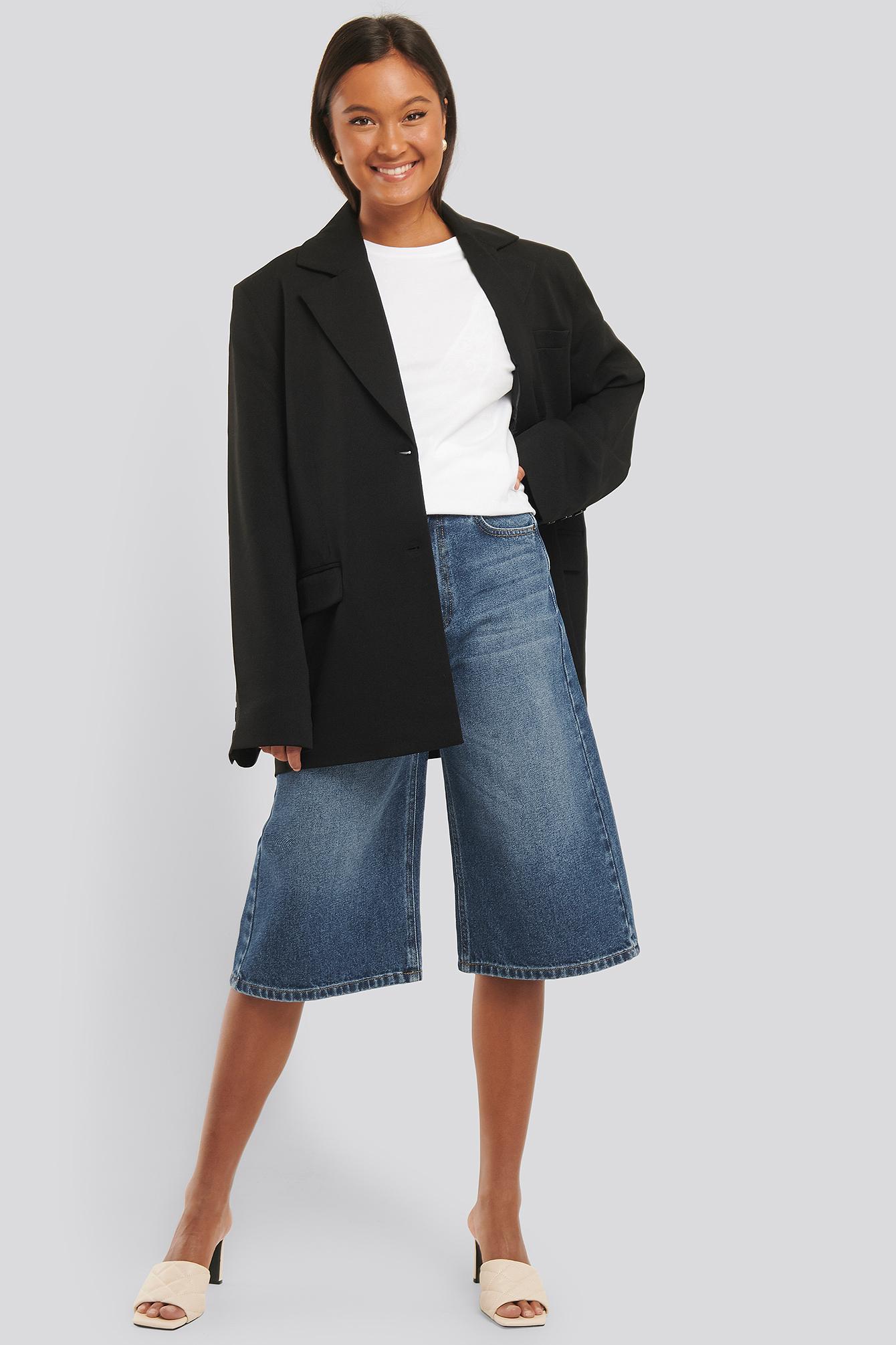 na-kd trend -  Culotte Jeans - Blue