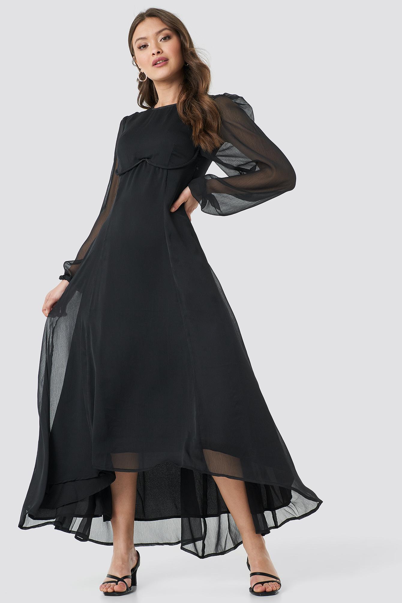 Cup Detail Chiffon Dress NA-KD.COM
