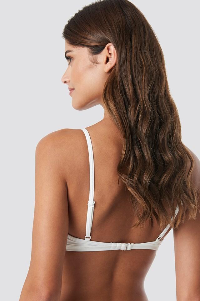 Cup Shape Bikini Top White