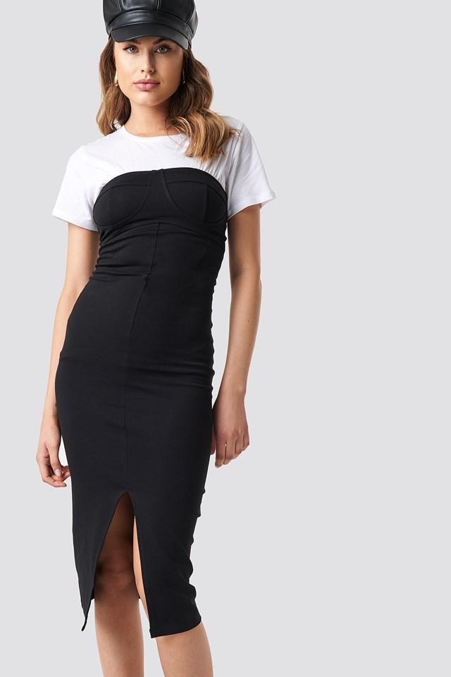 Cup Tube Dress Black