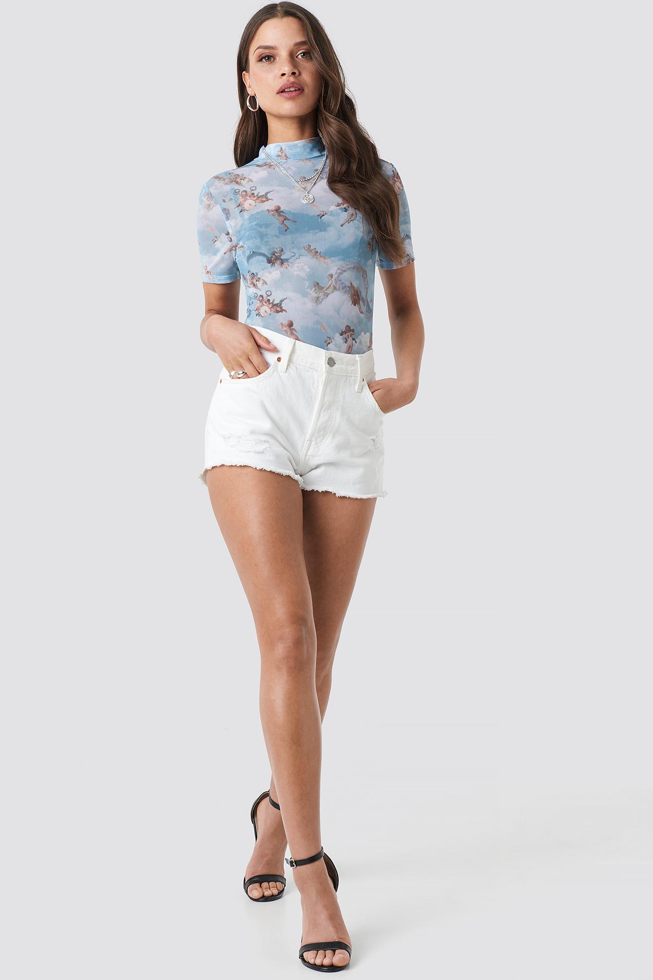Cupid Short Sleeve Mesh Top NA-KD.COM