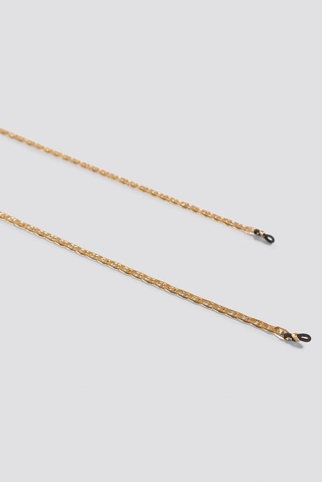 Curb Sunglass Chain Gold