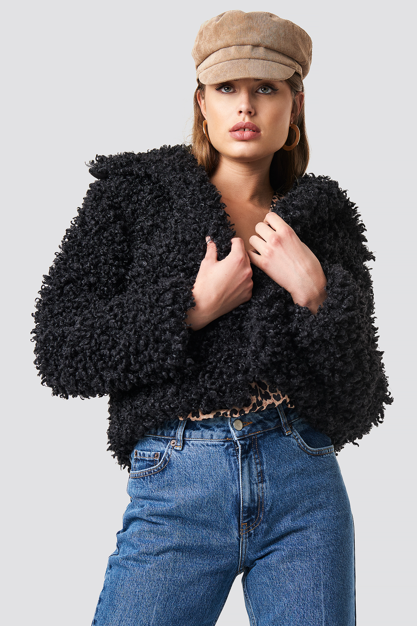 Curly Faux Fur Jacket NA-KD.COM