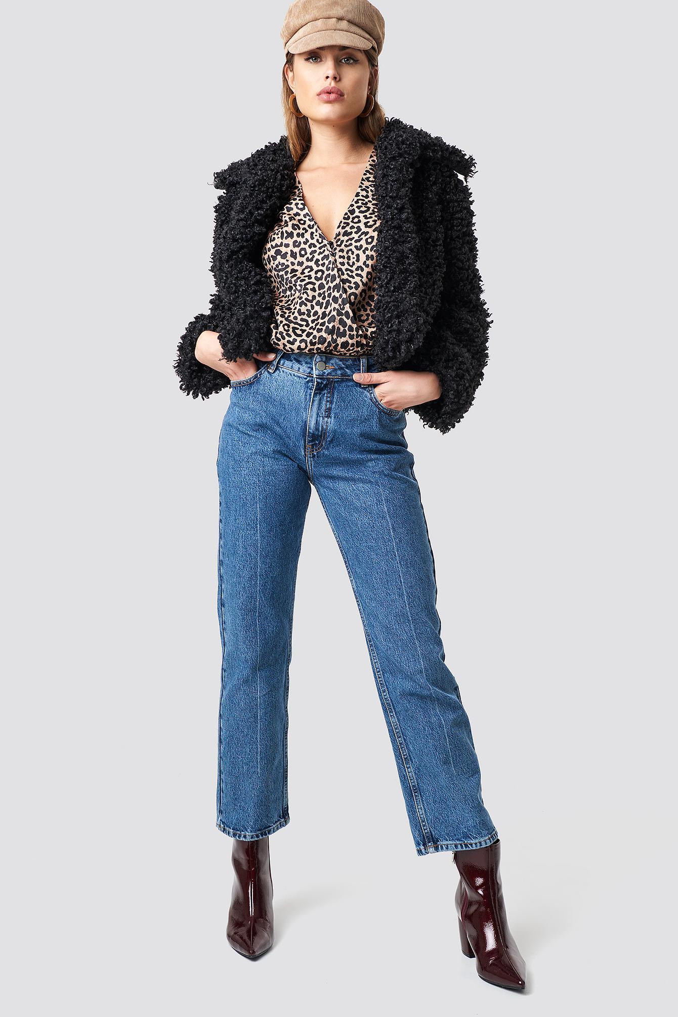 Curly Faux Fur Jacket NA-KD.COM
