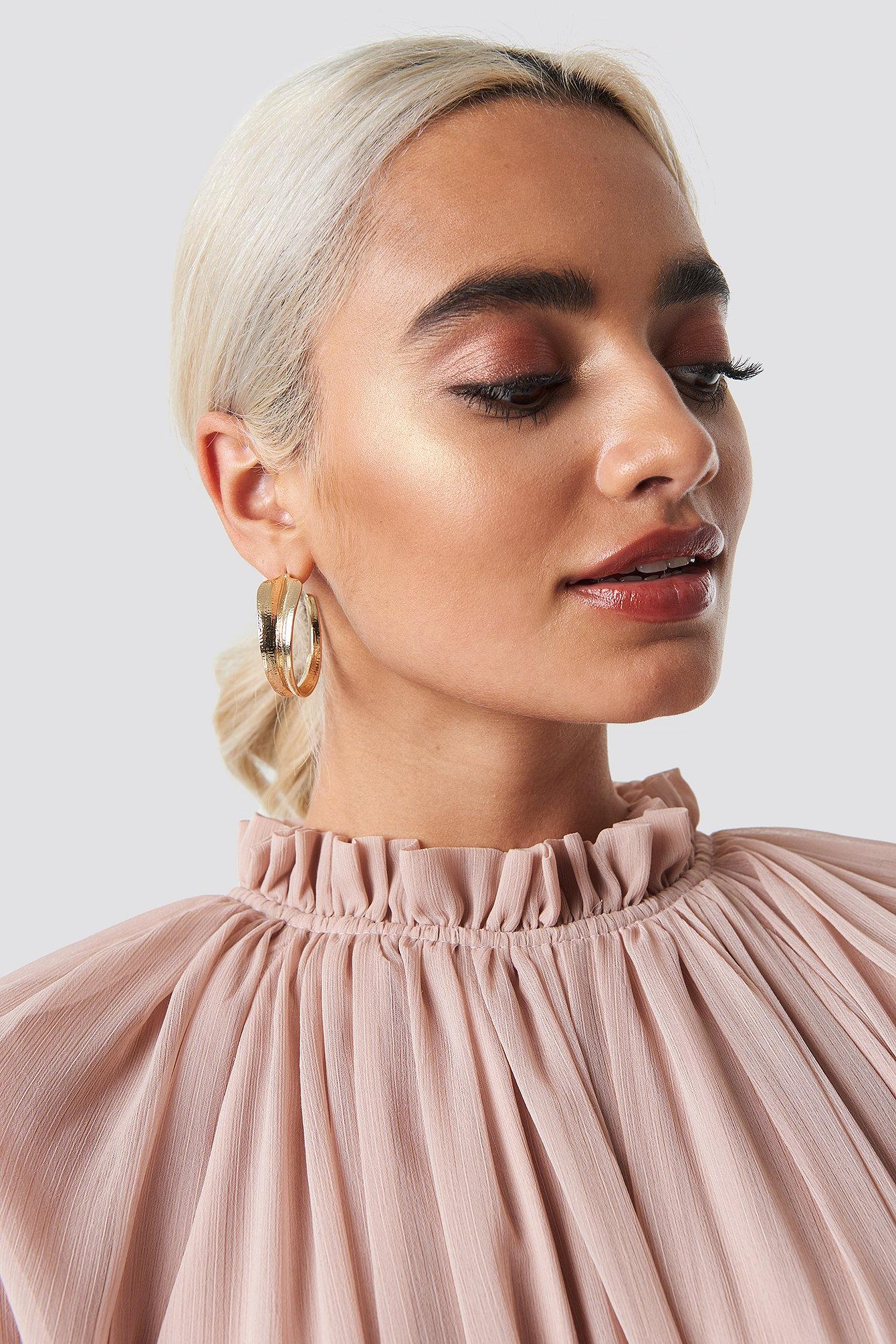 Curved Leaf Earrings NA-KD.COM