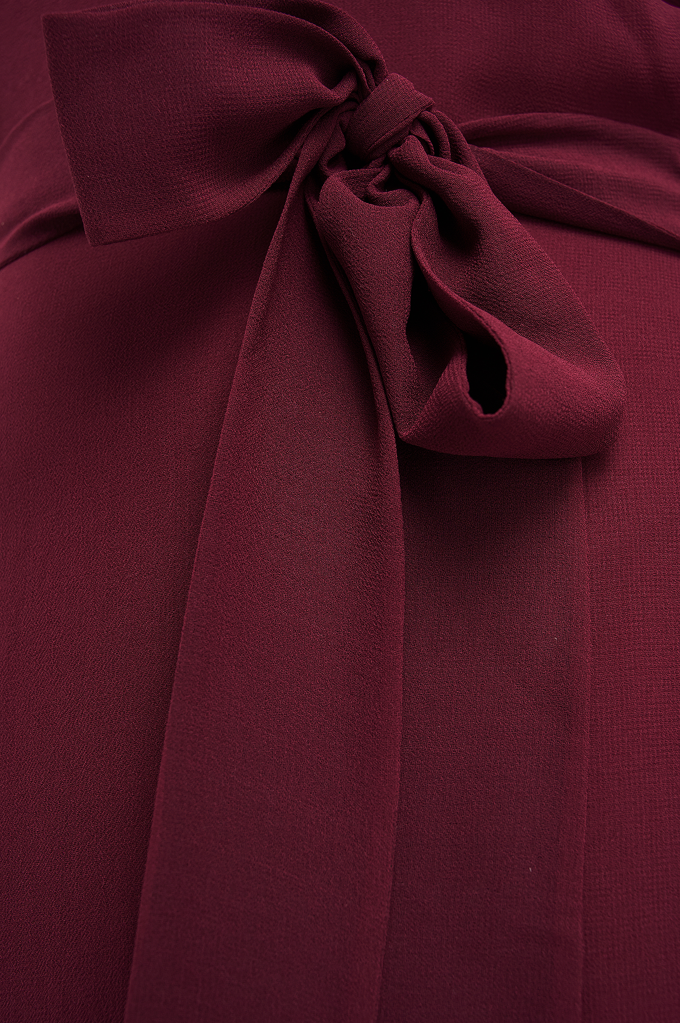 Burgundy Cut Out Back Chiffon Mini Dress