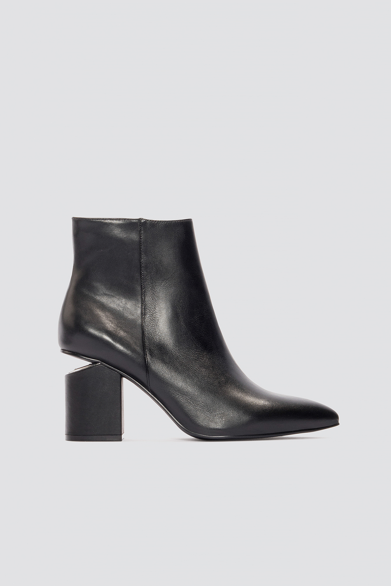 Cut Out Heel Leather Shoes NA-KD.COM