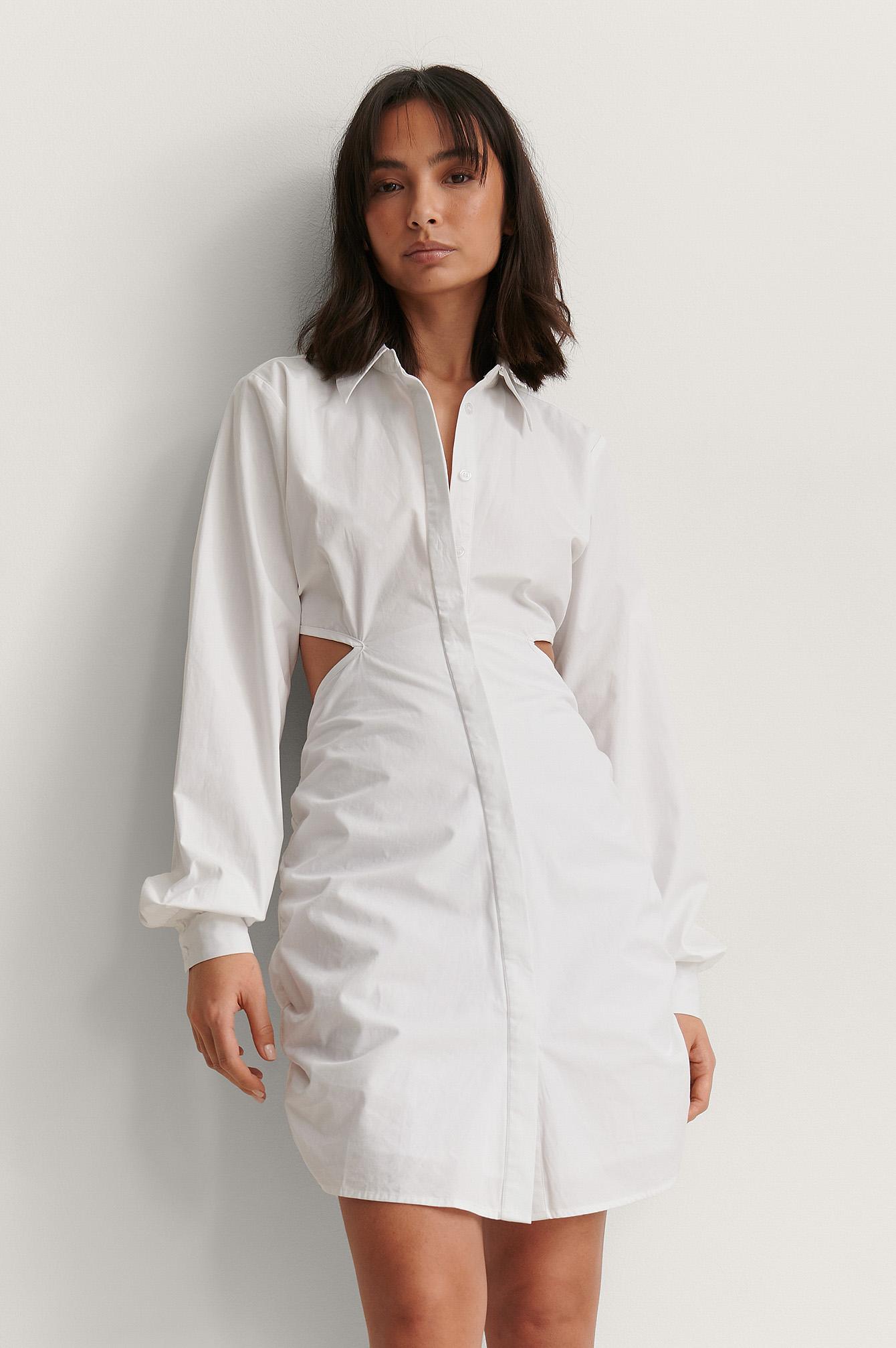 na-kd trend -  Organisch HemdkleidOrganisch Hemdkleid - White