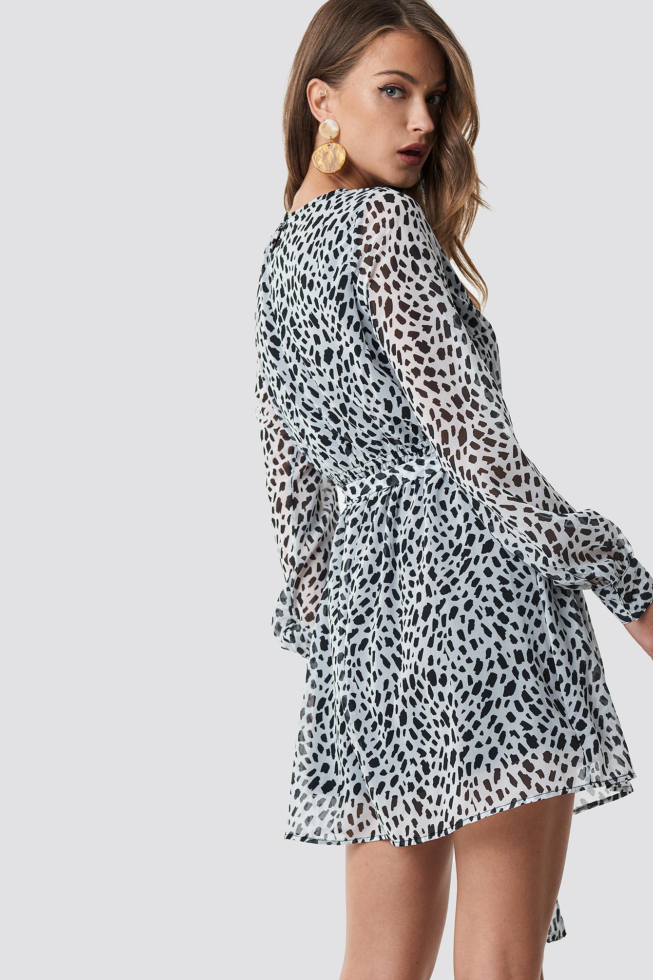 Dalmation Spots Print Dress NA-KD.COM