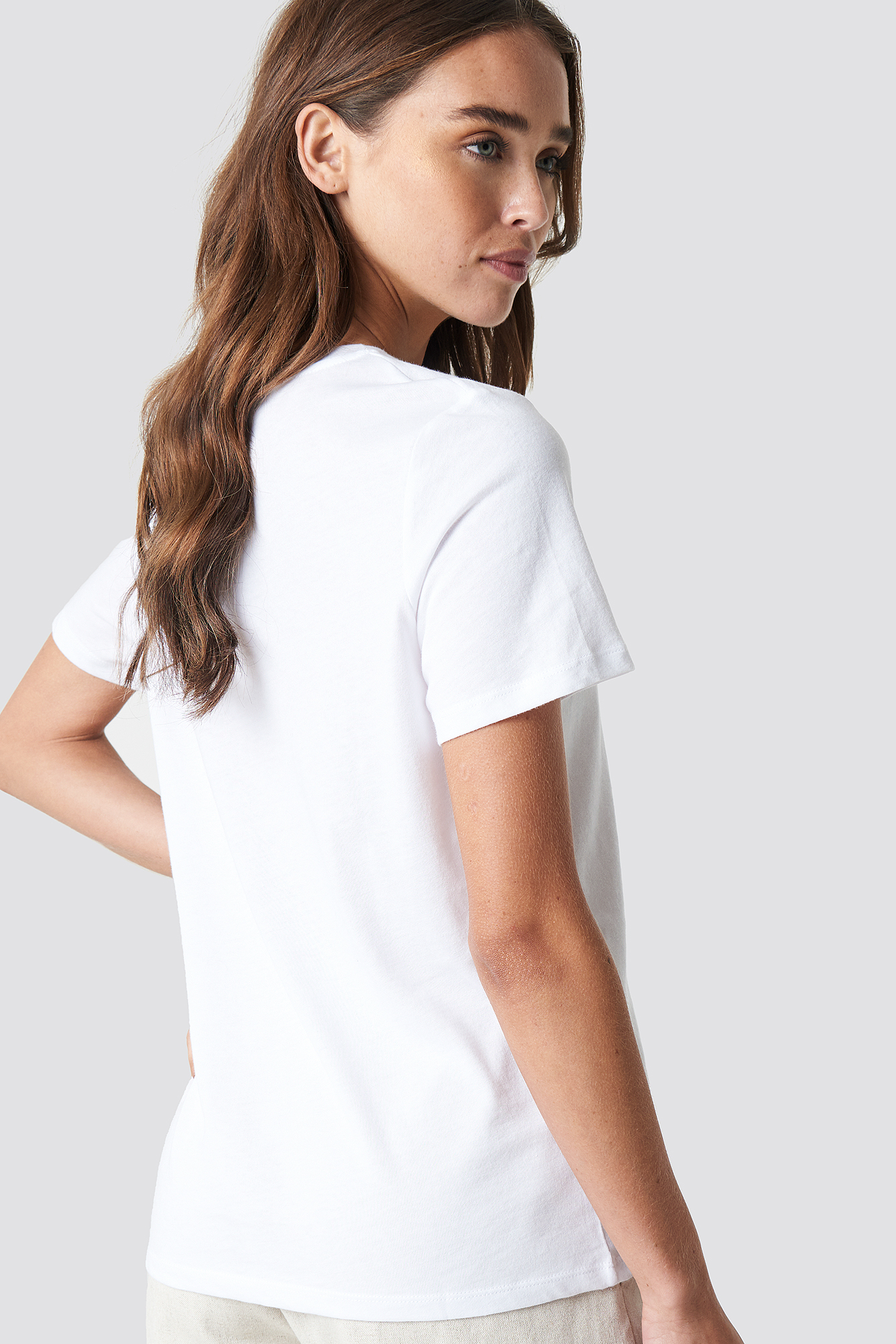 Darlin Embroidery Basic Tee NA-KD.COM