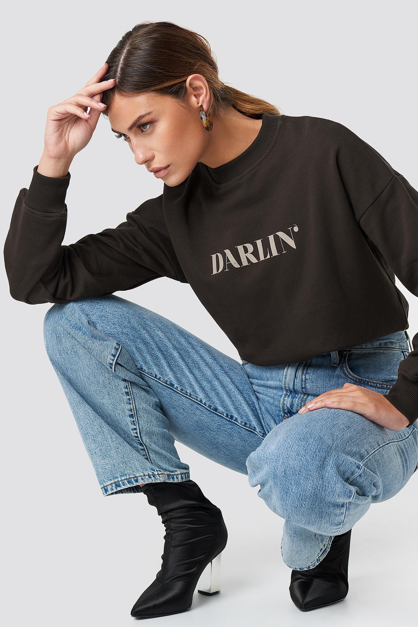 na-kd -  Darlin' Sweatshirt - Brown