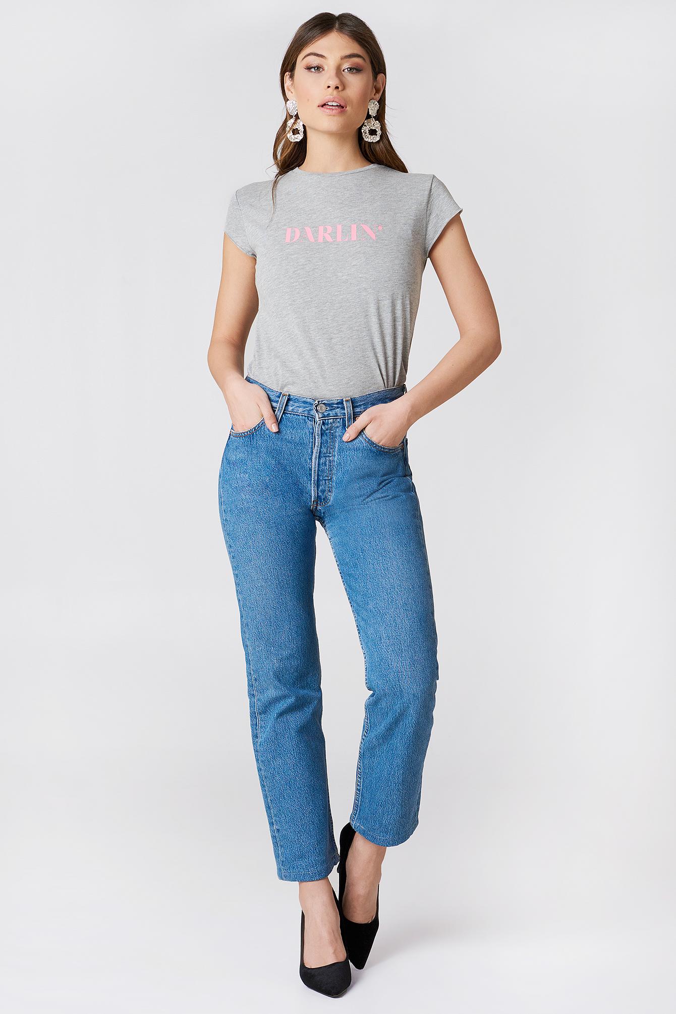 T-shirt Darlin' NA-KD.COM
