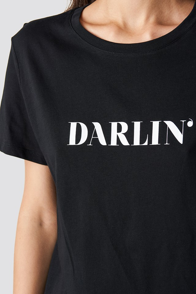 Darlin' T-shirt Dress Black