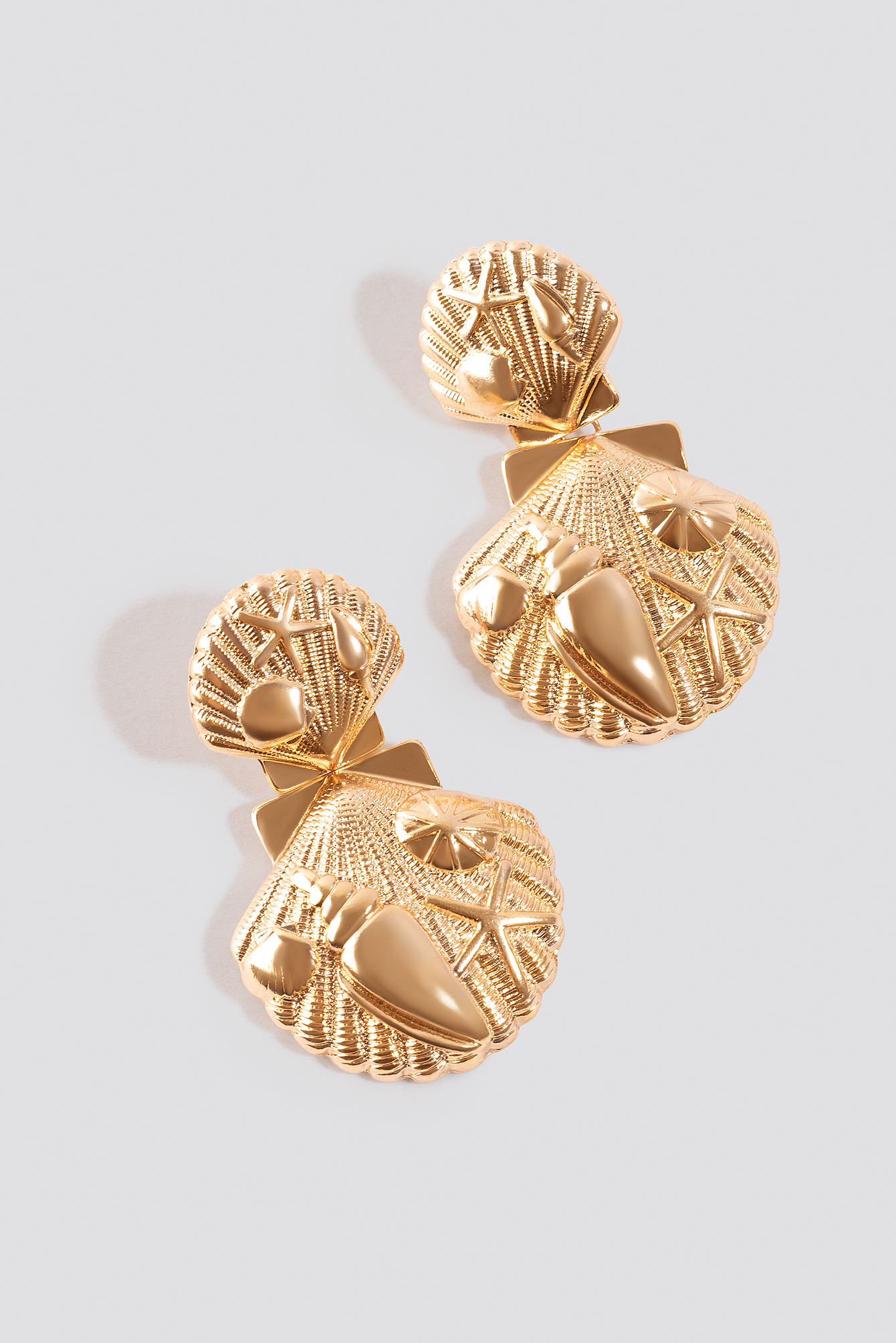 Decorated Shell Drop Earrings NA-KD.COM
