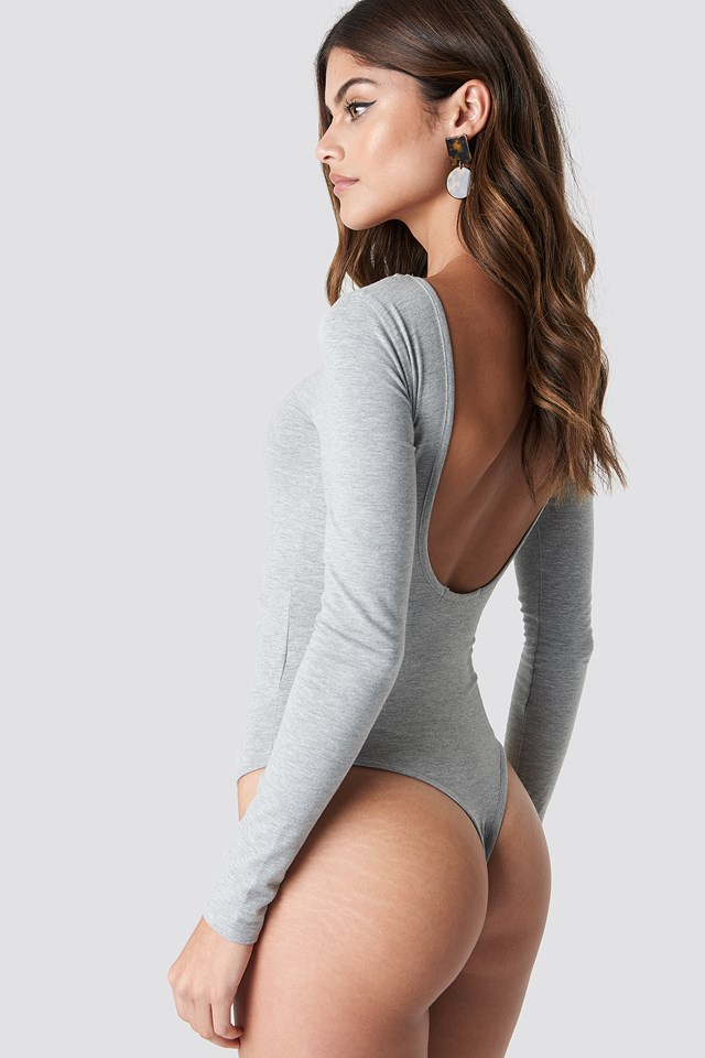 Deep Back Body Grey Melange