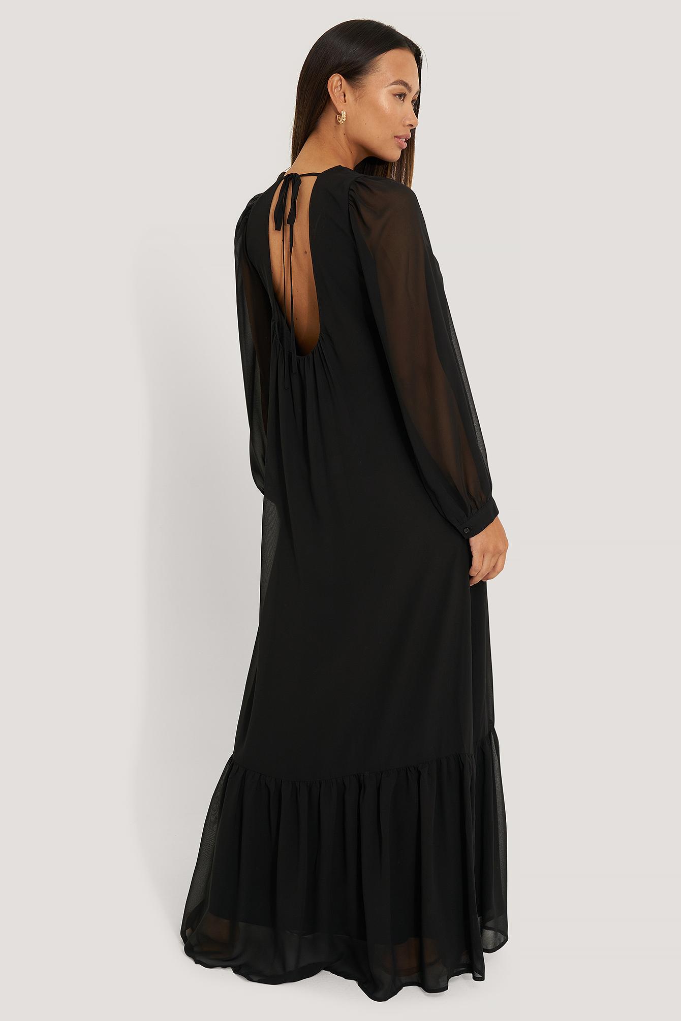 NA-KD Trend Maxiklänning - Black