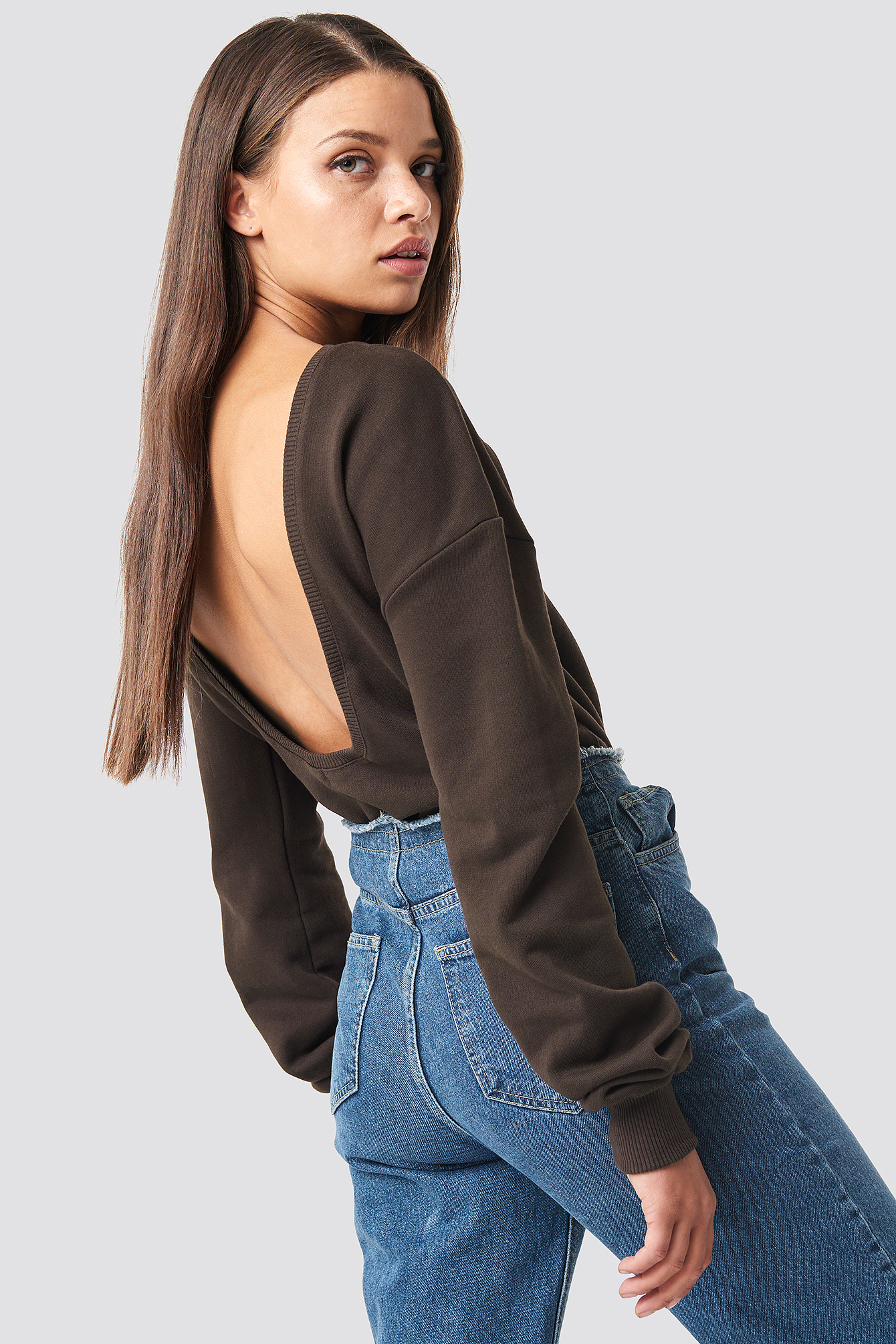 Deep Back Sweater NA-KD.COM