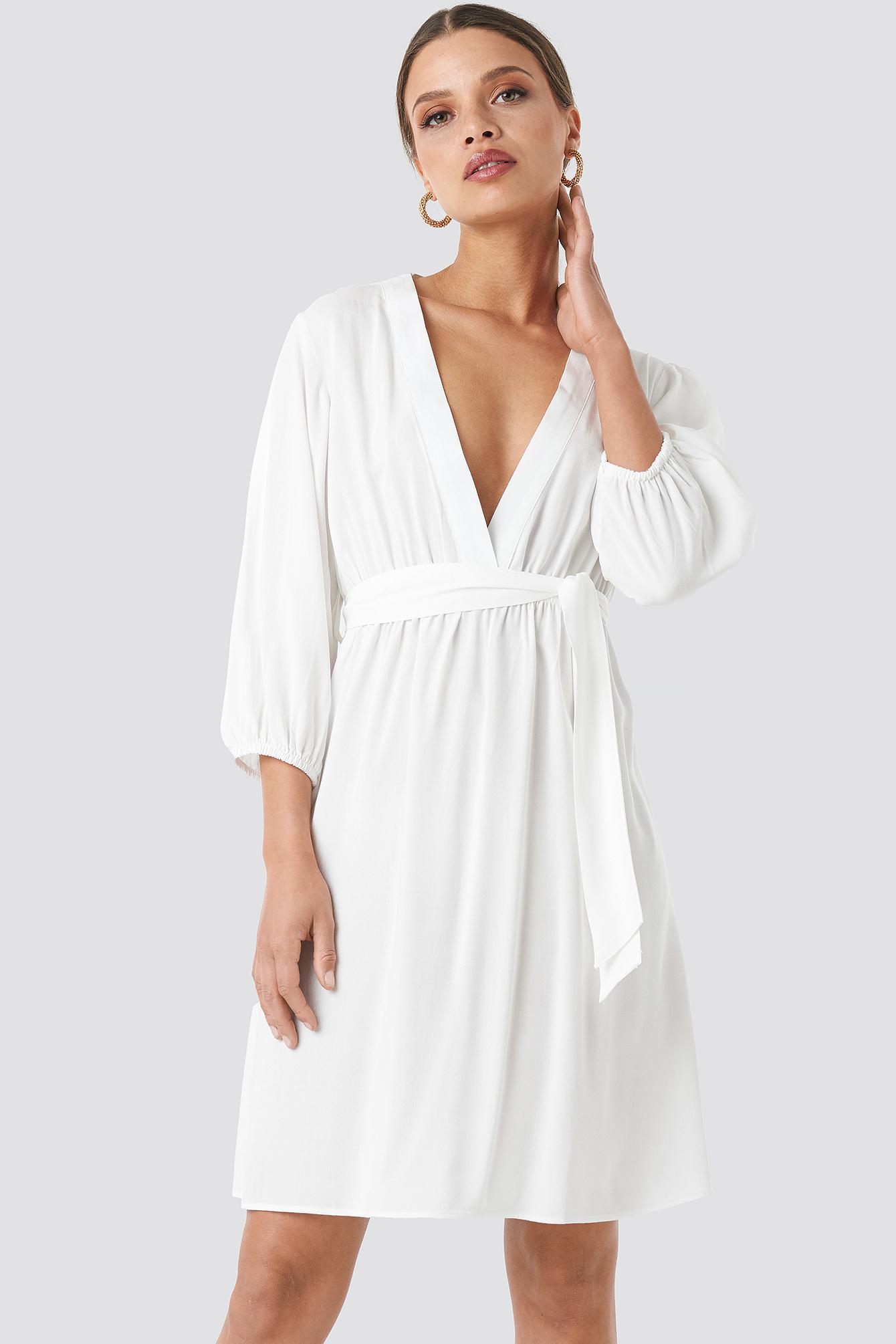 Deep V Mini Dress NA-KD.COM
